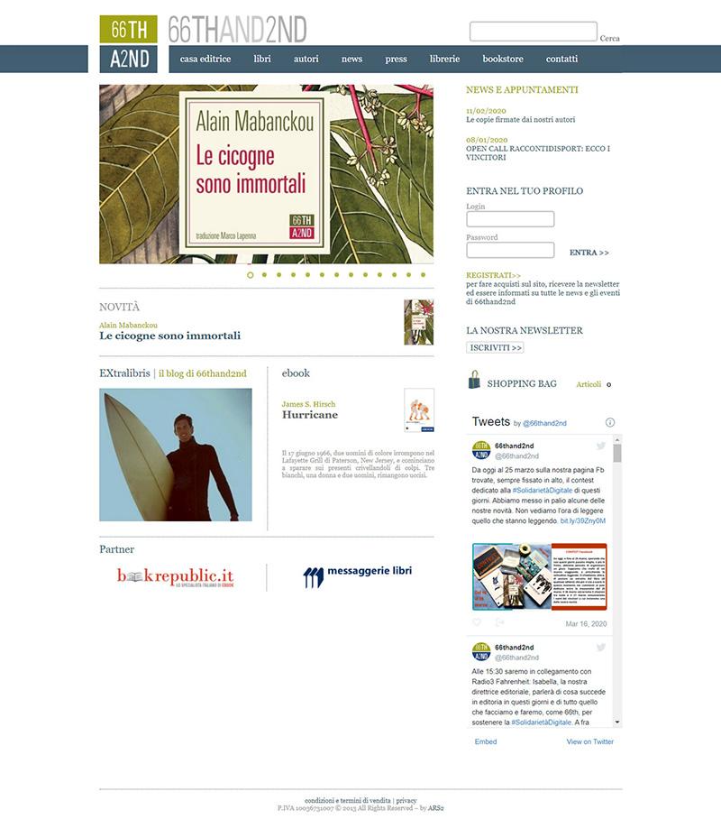 66thand2nd.com - portfolio sito arsdue