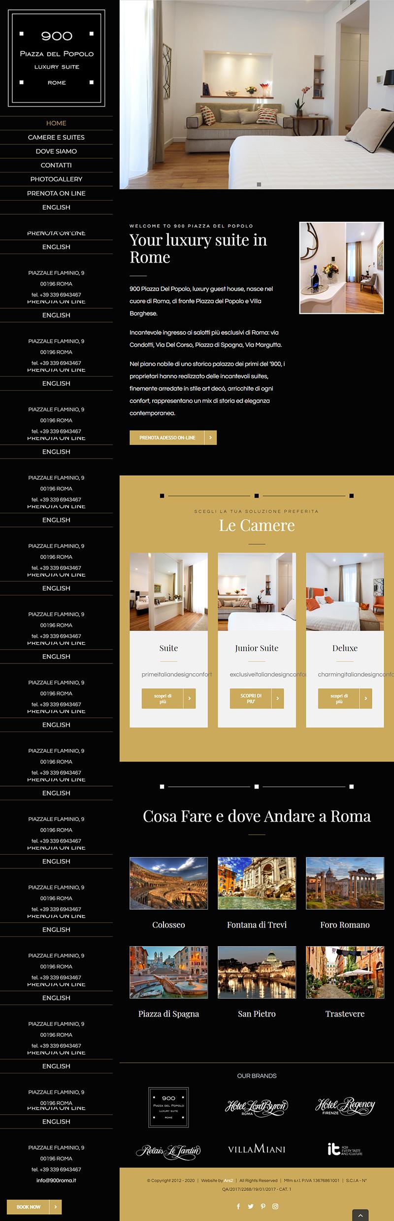 900roma.it - portfolio sito arsdue