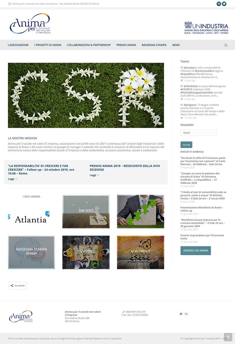 animaperilsociale.it - portfolio sito arsdue