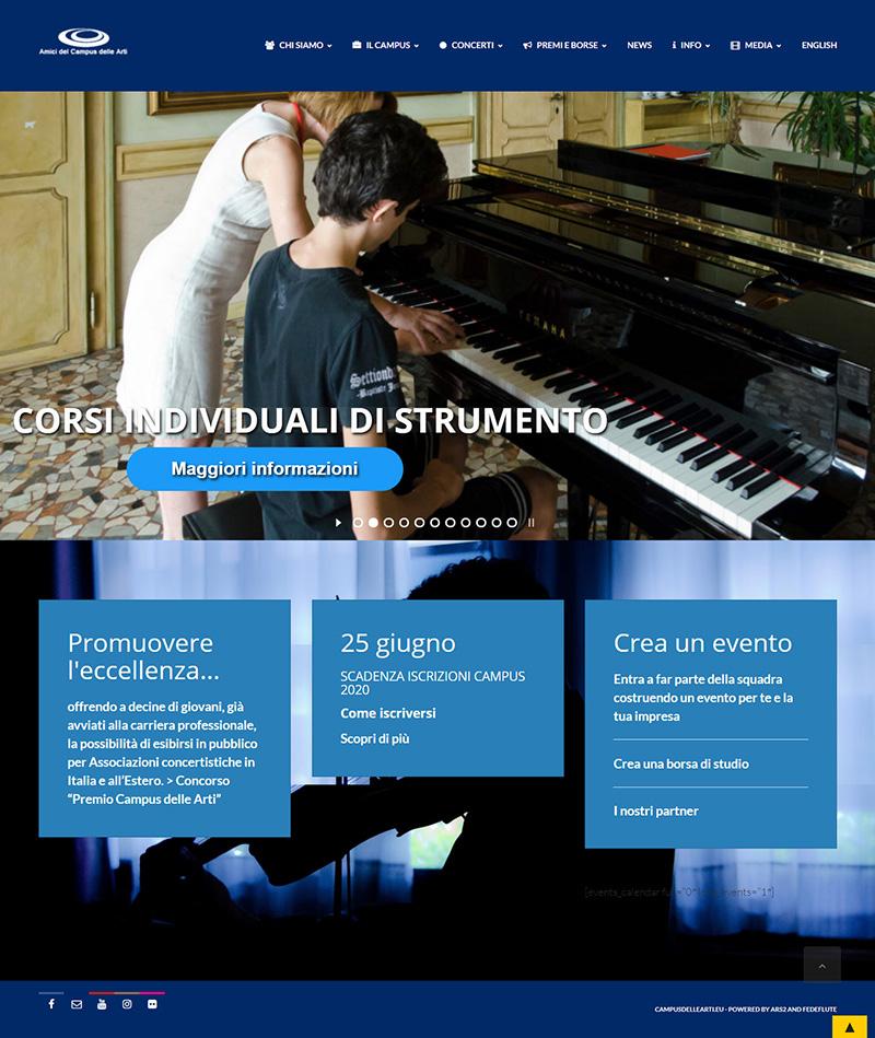 campusdellearti.eu - portfolio sito arsdue