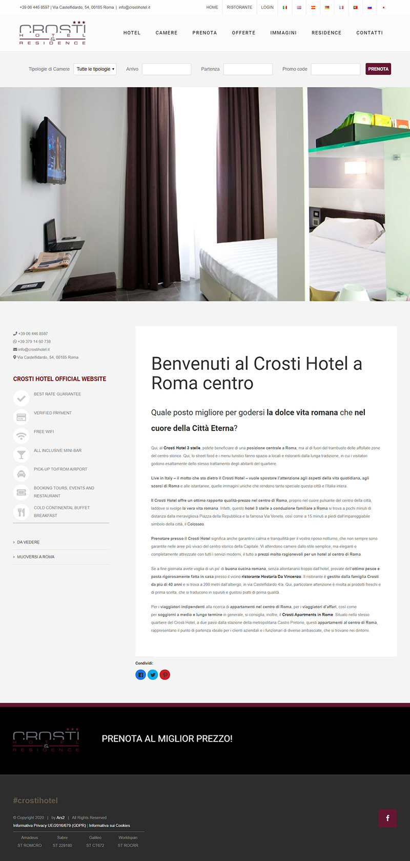 crostihotel.it - portfolio sito arsdue