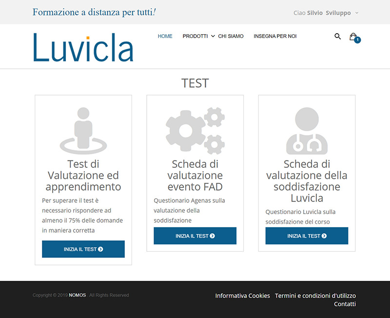 luvicla.it test - portfolio app arsdue