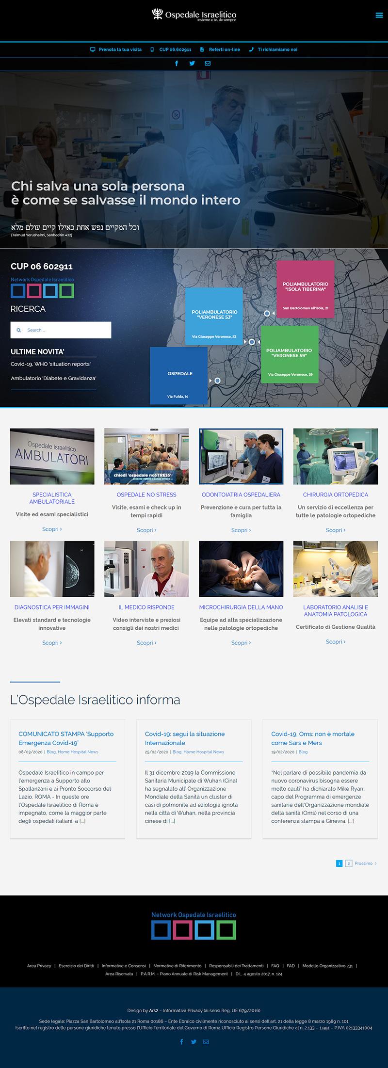 ospedaleisraelitico.it - portfolio sito arsdue
