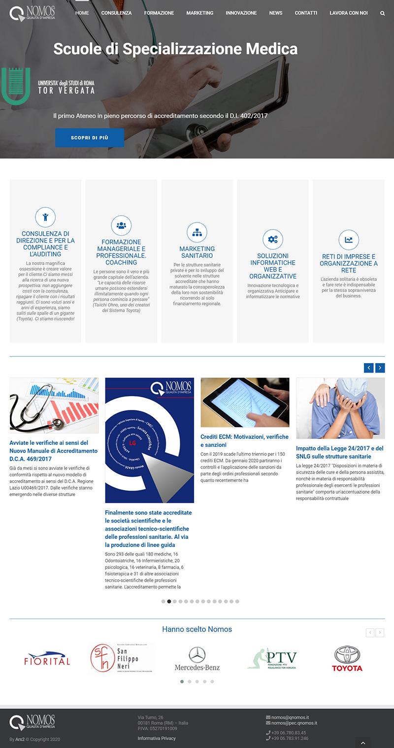 qnomos.com - portfolio sito arsdue