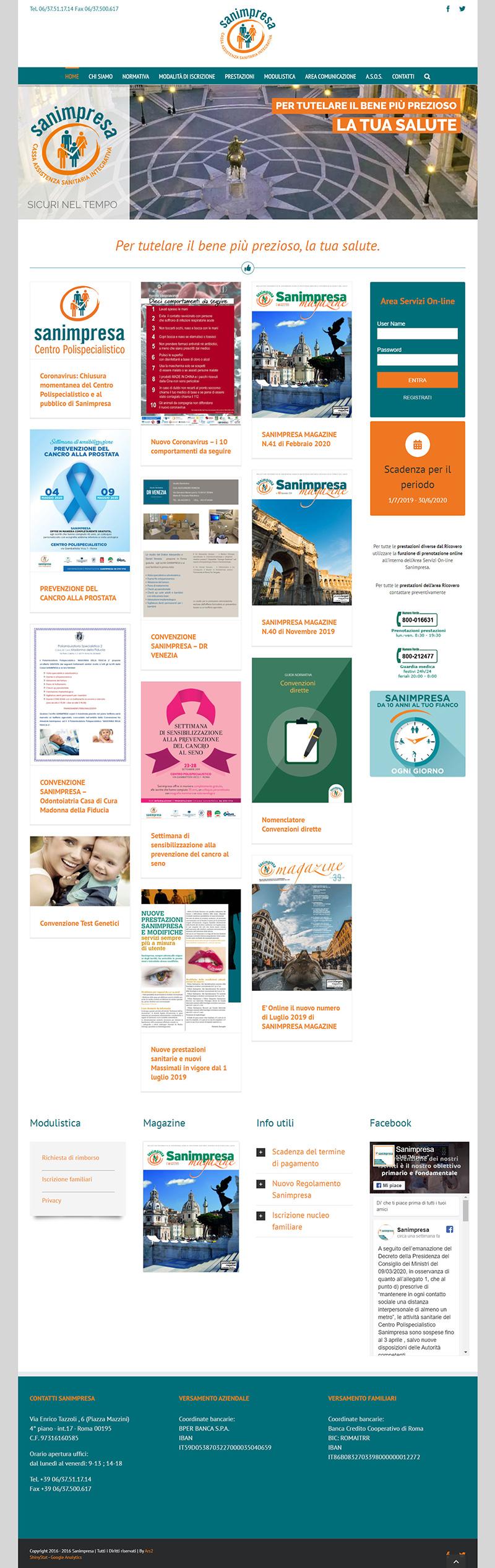 sanimpresa.it - portfolio sito arsdue