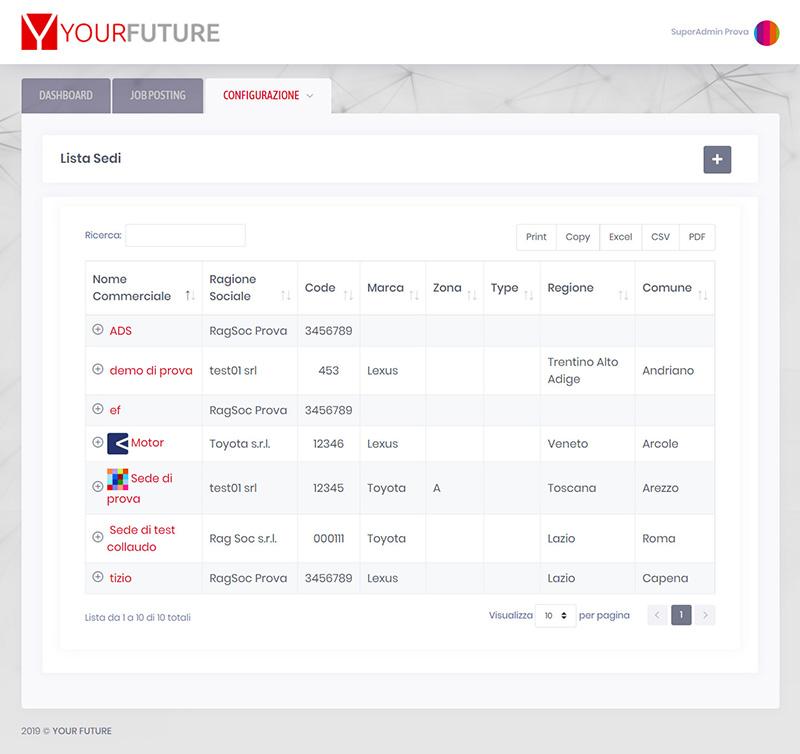 yourfuture.careers admin - portfolio app arsdue