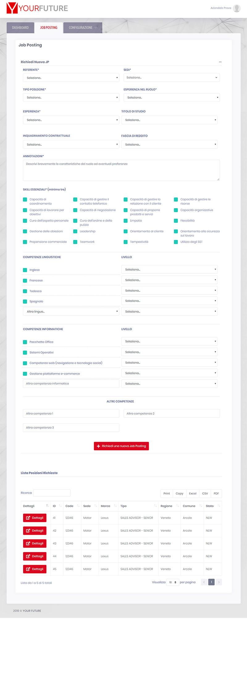 yourfuture.careers aziendale - portfolio app arsdue